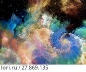 Купить «Dance of Space Nebula», фото № 27869135, снято 20 июля 2018 г. (c) PantherMedia / Фотобанк Лори