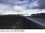 Купить «straight road from the mountains In Iceland», фото № 27870943, снято 14 октября 2019 г. (c) PantherMedia / Фотобанк Лори