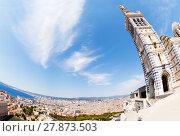Купить «Notre-Dame de la Garde overlooking Marseille», фото № 27873503, снято 18 июля 2017 г. (c) Сергей Новиков / Фотобанк Лори