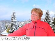 Купить «Портрет улыбающейся женщины средних лет», эксклюзивное фото № 27873699, снято 16 марта 2012 г. (c) Юрий Морозов / Фотобанк Лори