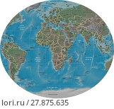 Купить «Africa and Europe detailed map», иллюстрация № 27875635 (c) PantherMedia / Фотобанк Лори