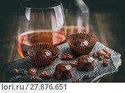 Купить «Delicious chocolate pralines», фото № 27876651, снято 23 мая 2018 г. (c) PantherMedia / Фотобанк Лори