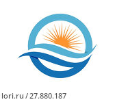 Купить «Water wave Logo Template», иллюстрация № 27880187 (c) PantherMedia / Фотобанк Лори
