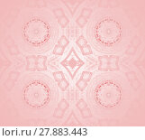 Купить «Abstract geometric seamless background. Shiny concentric circles and diamond pattern in pink shades, delicate and dreamy.», фото № 27883443, снято 18 октября 2018 г. (c) PantherMedia / Фотобанк Лори