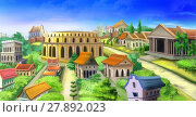 Купить «Ancient Rome panorama view. Image 02», иллюстрация № 27892023 (c) PantherMedia / Фотобанк Лори