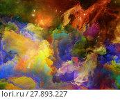 Купить «Colorful Space Nebula», фото № 27893227, снято 20 июля 2018 г. (c) PantherMedia / Фотобанк Лори