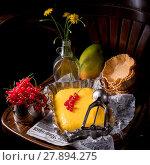 Купить «food fruit dessert cream ice», фото № 27894275, снято 26 марта 2019 г. (c) PantherMedia / Фотобанк Лори