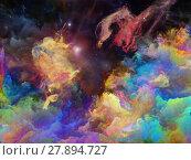 Купить «Vivid Space Nebula», фото № 27894727, снято 24 января 2019 г. (c) PantherMedia / Фотобанк Лори