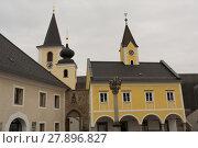 Купить «Kirche und Gemeindeamt Sarleinsbach - Austria», фото № 27896827, снято 27 марта 2019 г. (c) PantherMedia / Фотобанк Лори