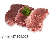 Купить «beef steaks with parsley», фото № 27906035, снято 22 апреля 2019 г. (c) PantherMedia / Фотобанк Лори