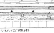 Купить «Outlined Large Empty Stadium with Scoreboard», иллюстрация № 27908919 (c) PantherMedia / Фотобанк Лори