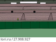 Купить «One fan at empty stadium», иллюстрация № 27908927 (c) PantherMedia / Фотобанк Лори