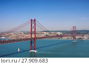 Купить «Lissabon Bruecke - Lisbon bridge 01», фото № 27909683, снято 17 августа 2018 г. (c) PantherMedia / Фотобанк Лори