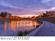 Купить «Vilnius at sunset, Lithuania, Baltic states.», фото № 27913027, снято 17 января 2019 г. (c) PantherMedia / Фотобанк Лори