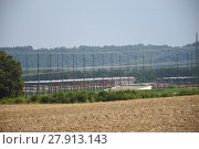 Купить «substation,electricity hub,power,switchgear,ernsthofen,busbar,panel,lightning rod», фото № 27913143, снято 21 мая 2018 г. (c) PantherMedia / Фотобанк Лори