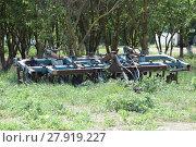 Купить «Trailer Hitch for tractors and combines», фото № 27919227, снято 17 июня 2019 г. (c) PantherMedia / Фотобанк Лори