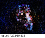 Купить «Visualization of Digital Grid», фото № 27919635, снято 16 июля 2019 г. (c) PantherMedia / Фотобанк Лори