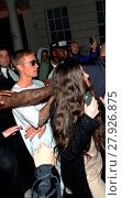 Купить «Rihanna and Justin Bieber enjoy a night out at Tape London. They were seen leaving the club at 5am. Featuring: Justin Bieber Where: London, United Kingdom When: 20 Aug 2016 Credit: RV/WENN.com», фото № 27926875, снято 20 августа 2016 г. (c) age Fotostock / Фотобанк Лори
