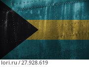 Купить «metal texutre or background with bahamas flag», фото № 27928619, снято 23 января 2019 г. (c) PantherMedia / Фотобанк Лори