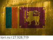 Купить «metal texutre or background with sri lanka flag», фото № 27928719, снято 23 января 2019 г. (c) PantherMedia / Фотобанк Лори