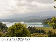 Купить «overlooking the faaker see - austria», фото № 27929427, снято 27 марта 2019 г. (c) PantherMedia / Фотобанк Лори