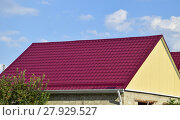 Купить «Roof metal sheets», фото № 27929527, снято 17 июня 2019 г. (c) PantherMedia / Фотобанк Лори