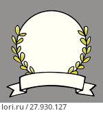Купить «laurel wreath vector frame on gray background», иллюстрация № 27930127 (c) PantherMedia / Фотобанк Лори