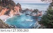 Купить «McWay Falls, Julia Pfeiffer Burns State Park, Big Sur, California, USA», фото № 27930263, снято 19 июля 2019 г. (c) PantherMedia / Фотобанк Лори