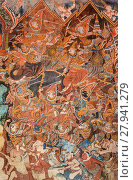 Купить «Ancient Buddhist temple mural painting in Thailand», фото № 27941279, снято 25 июня 2019 г. (c) PantherMedia / Фотобанк Лори