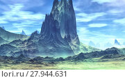 Купить «Чужая планета. Скалы и озеро. Анимация. Панорама. 4К», видеоролик № 27944631, снято 17 февраля 2018 г. (c) Parmenov Pavel / Фотобанк Лори