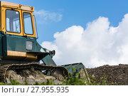 Купить «machinery at a construction site», фото № 27955935, снято 24 марта 2019 г. (c) PantherMedia / Фотобанк Лори
