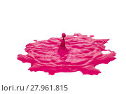 Купить «Impact of pink color water drop isolated», фото № 27961815, снято 23 января 2019 г. (c) PantherMedia / Фотобанк Лори