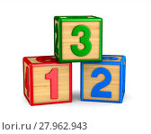 block with number on white background. Isolated 3D illustration. Стоковая иллюстрация, иллюстратор Ильин Сергей / Фотобанк Лори