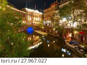 Купить «Canal Oudegracht and bridge, Utrecht, Netherlands», фото № 27967027, снято 17 января 2019 г. (c) PantherMedia / Фотобанк Лори