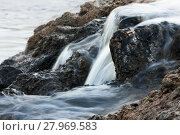 Купить «Water overflowing stones», фото № 27969583, снято 21 августа 2018 г. (c) PantherMedia / Фотобанк Лори