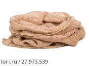 Купить «Burlap sack or bag», фото № 27973539, снято 15 января 2019 г. (c) PantherMedia / Фотобанк Лори