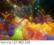 Купить «Colorful Space Nebula», фото № 27983335, снято 20 июля 2018 г. (c) PantherMedia / Фотобанк Лори