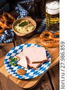 Купить «Bavarian meatloaf with sweetly senf», фото № 27986859, снято 14 ноября 2018 г. (c) PantherMedia / Фотобанк Лори