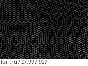 Купить «silver filigree wire mesh in front of a black wall», фото № 27997927, снято 21 марта 2019 г. (c) PantherMedia / Фотобанк Лори