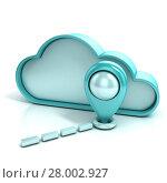 Купить «Cloud with map pointer. Favorite places. 3D», фото № 28002927, снято 17 августа 2018 г. (c) PantherMedia / Фотобанк Лори