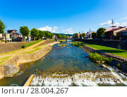 Купить «Takayama Miya-Gawa River Gifu Prefecture Daytime H», фото № 28004267, снято 14 ноября 2018 г. (c) PantherMedia / Фотобанк Лори