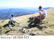 Купить «Odpoczynek na szlaku górskiej wyprawy.», фото № 28004931, снято 21 мая 2018 г. (c) PantherMedia / Фотобанк Лори
