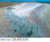 Купить «Top view of the salt lake mud sources. External similarity with craters. Mud healing springs», фото № 28005639, снято 22 января 2019 г. (c) PantherMedia / Фотобанк Лори