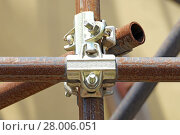 Купить «clamp scaffolding», фото № 28006051, снято 22 апреля 2018 г. (c) PantherMedia / Фотобанк Лори
