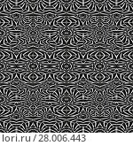 Купить «Black and White Intricate Tribal Seamless Pattern», фото № 28006443, снято 27 мая 2018 г. (c) PantherMedia / Фотобанк Лори