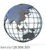 Купить «Polygonal style illustration of earth globe, Asia and Oceania view», фото № 28008303, снято 19 октября 2019 г. (c) PantherMedia / Фотобанк Лори
