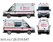 Купить «Vector Ambulance Van», иллюстрация № 28014647 (c) Александр Володин / Фотобанк Лори