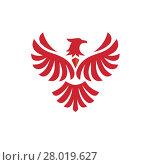 Купить «Eagle bird Logo design vector template. Flying Hawk, Phoenix Logotype concept icon», иллюстрация № 28019627 (c) PantherMedia / Фотобанк Лори