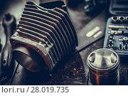 Купить «Motorcycle air-cooled cylinder», фото № 28019735, снято 23 февраля 2018 г. (c) PantherMedia / Фотобанк Лори