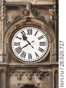 Купить «Old clock on a tower», фото № 28020727, снято 21 мая 2019 г. (c) PantherMedia / Фотобанк Лори